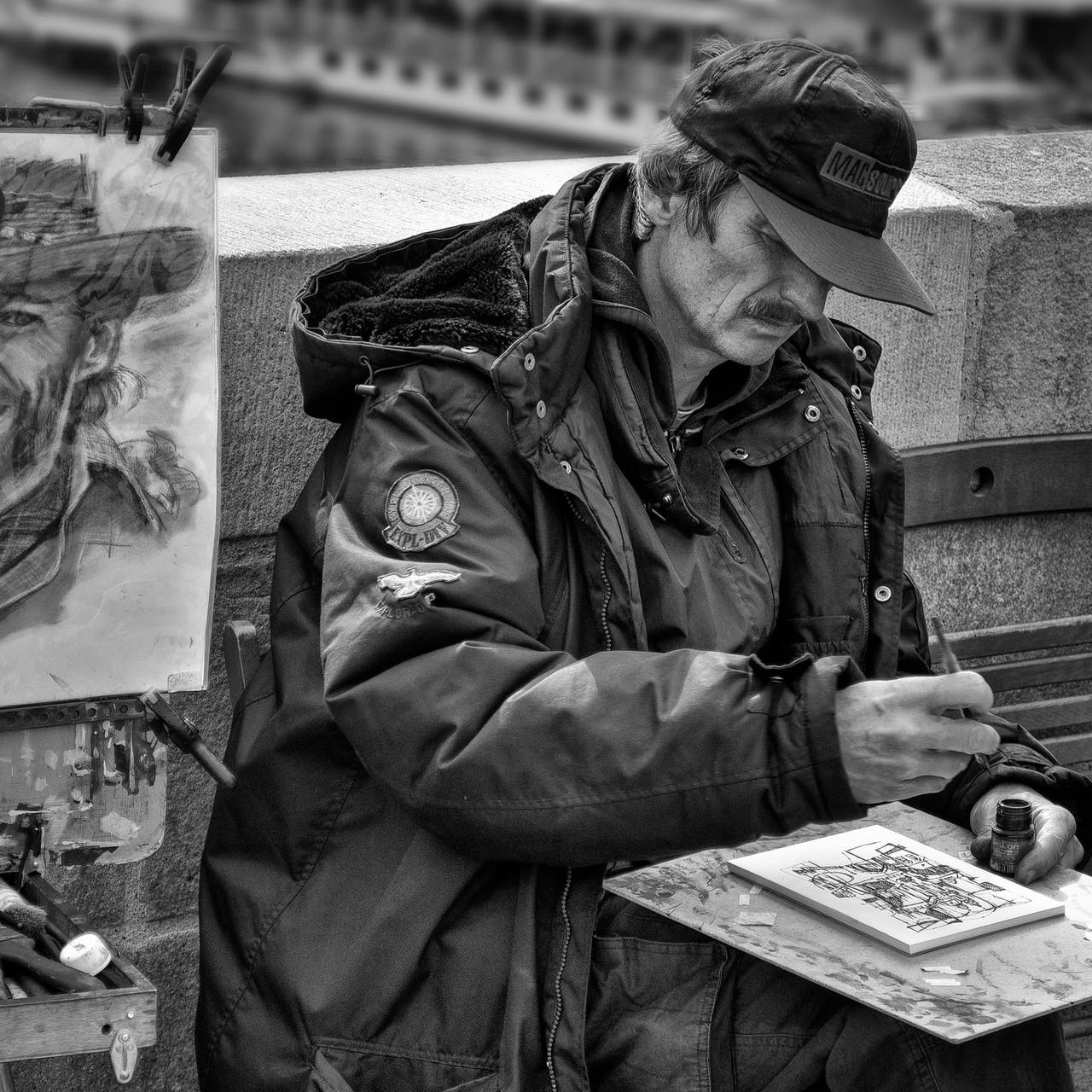 Maler, Karlsbrücke Prag