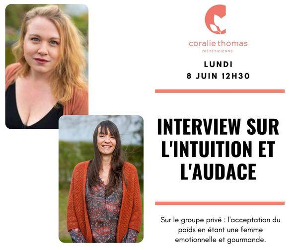 Interview sur l'intuition et l'audace.