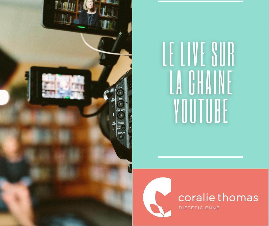 Live sur la chaine youtube