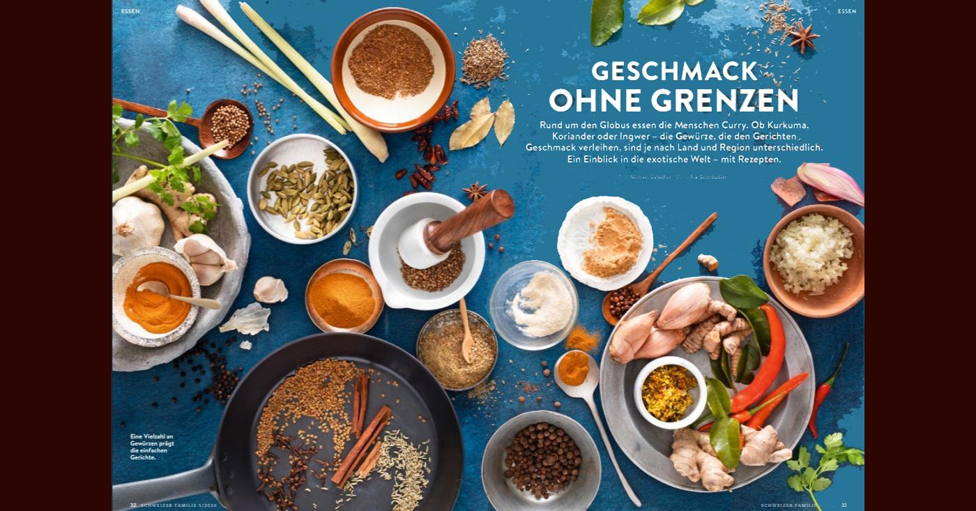 In der Schweizer Familie finden sich meine Curry-Rezepte zum nachkochen
