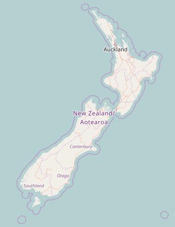 Carte de la Nouvelle-Zélande. Credit : © OpenStreetMap contributors