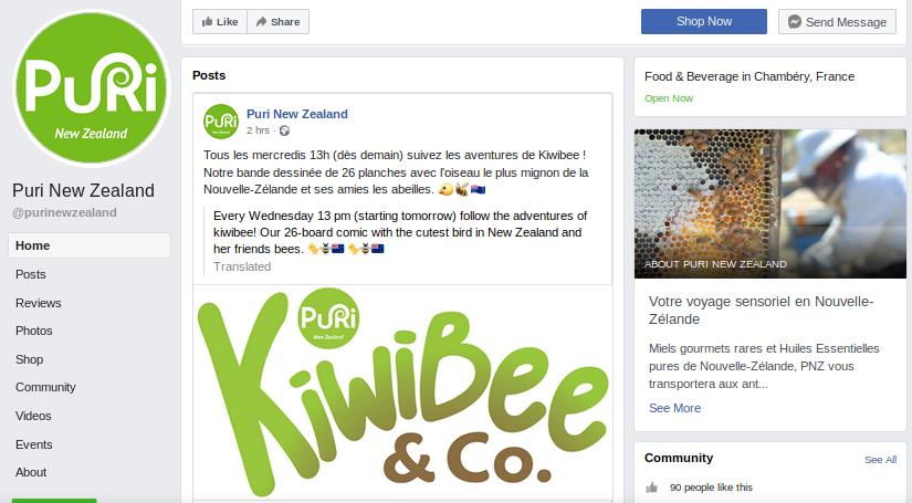 Suivez notre page Facebook @purinewzealand