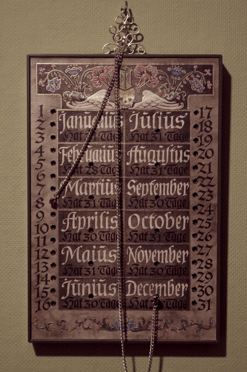 Bestand 1, Steckkalender