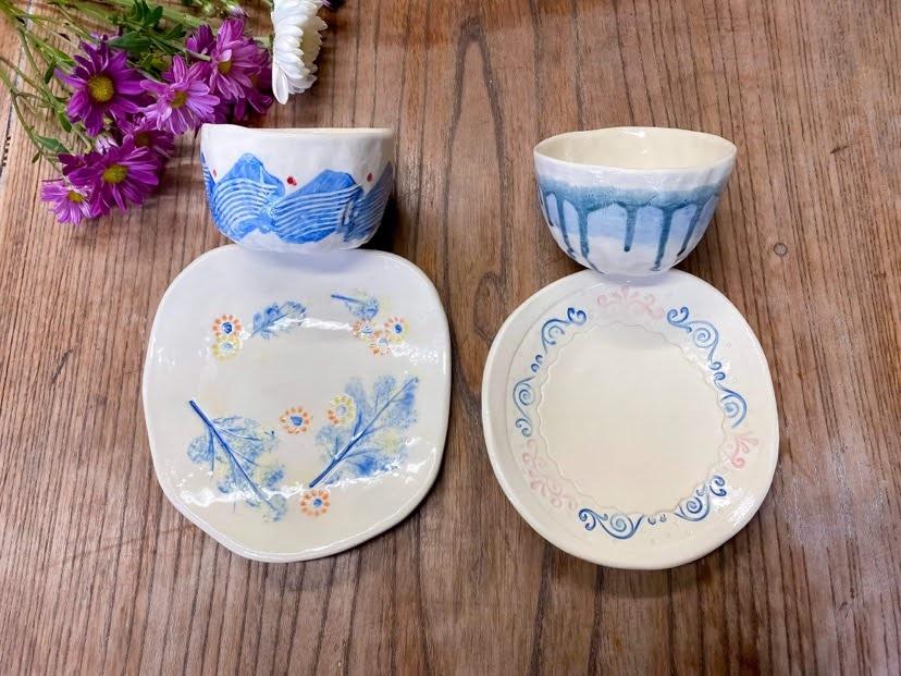 秋の陶芸「初めての食器作り♪」