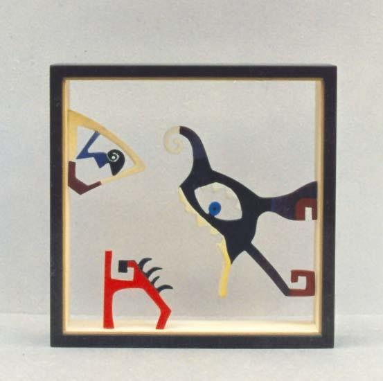 DOBLE CARA. 1994. 20,5 x 20,5 x 4,5 cm. Madera.