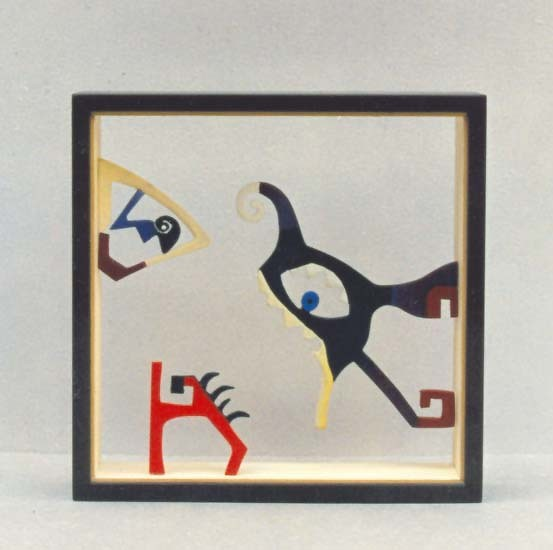 DOBLE CARA. 1994. 20,5 x 20,5 x 4,5 cm. Wood.