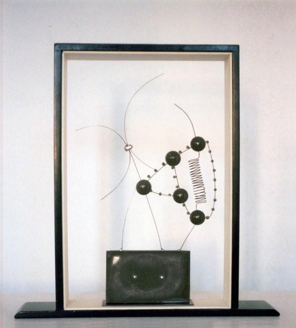 RETRATO. 2002. 36 x 35 x 7 cm. Técnica mixta..