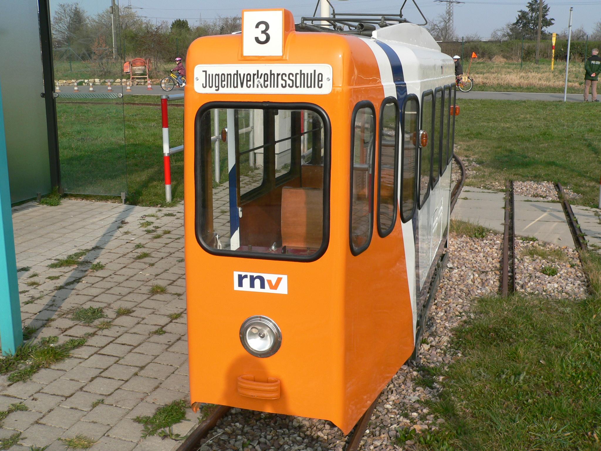 unserer Mini-Straßenbahn