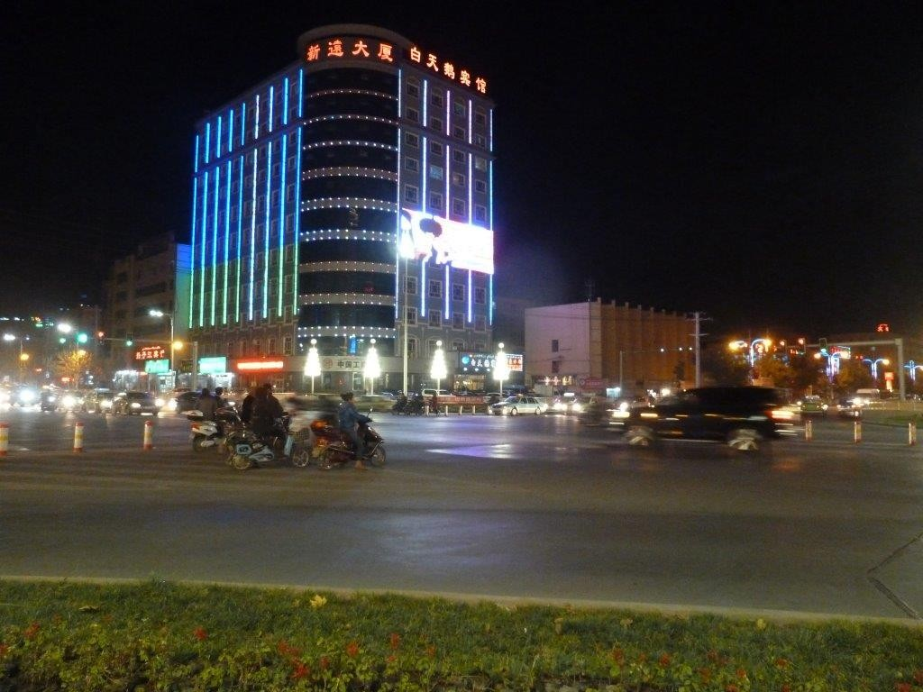 Kashgar Night City View, the most westerly city in China 2011