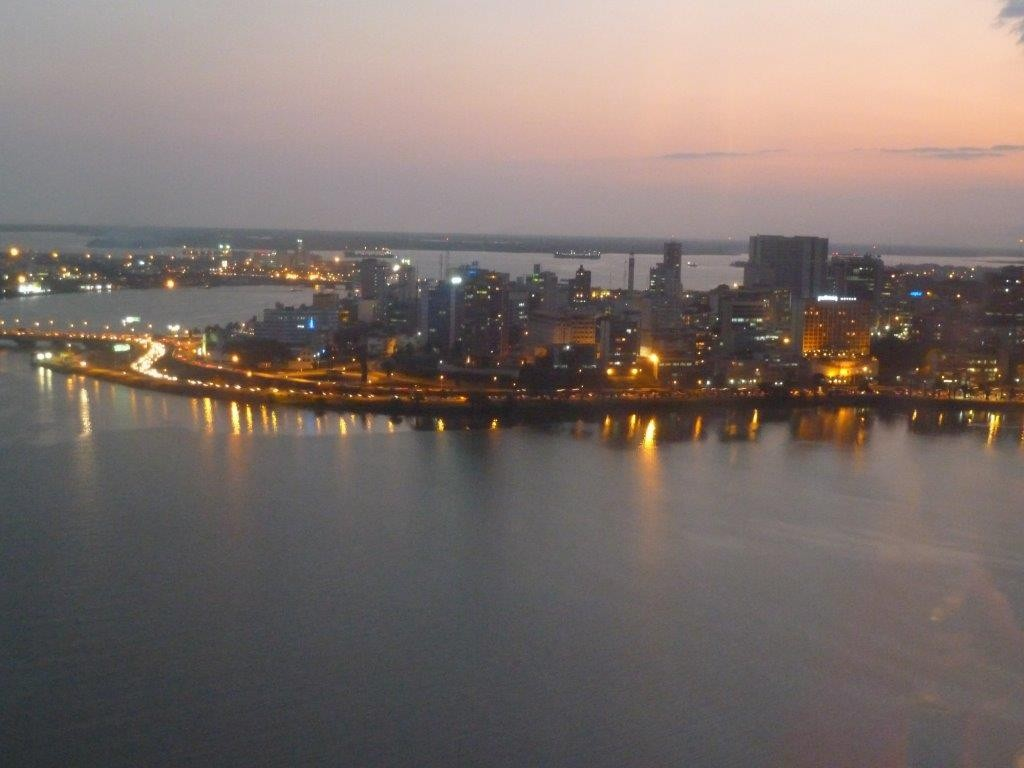 Abidjan city evening view, Ivory Coast 2012