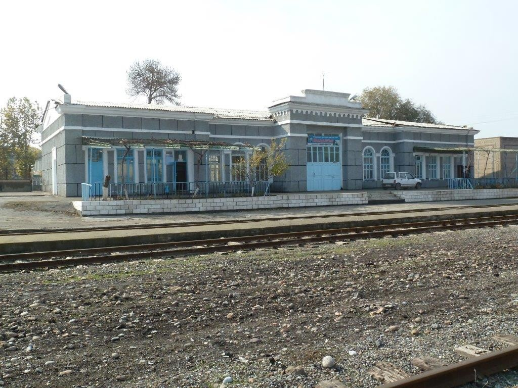 Railway Station at Kyzylkiya Kyrgyzstan 2014