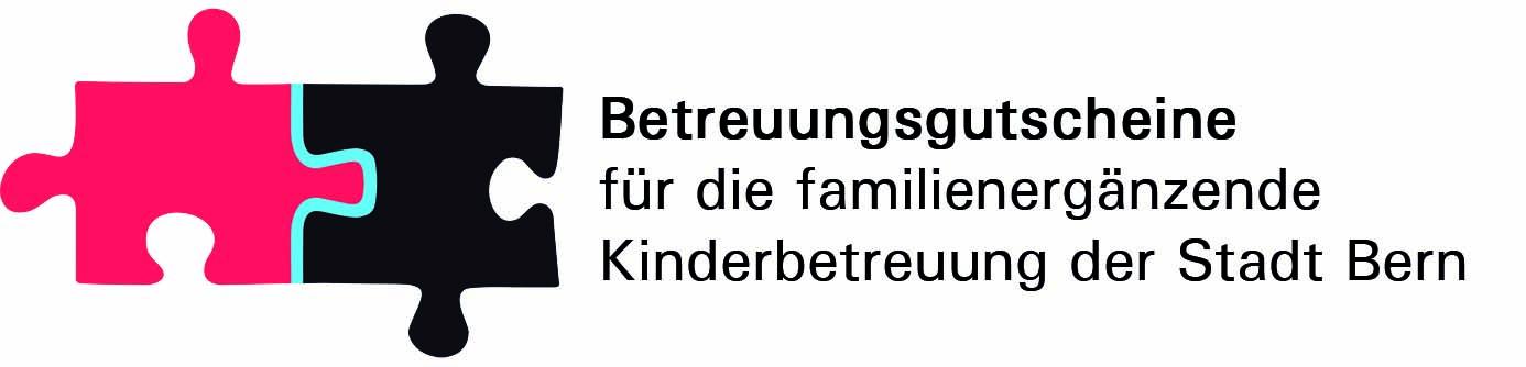 Logo zur Einführung der Betreuungsgutscheine in Bern.