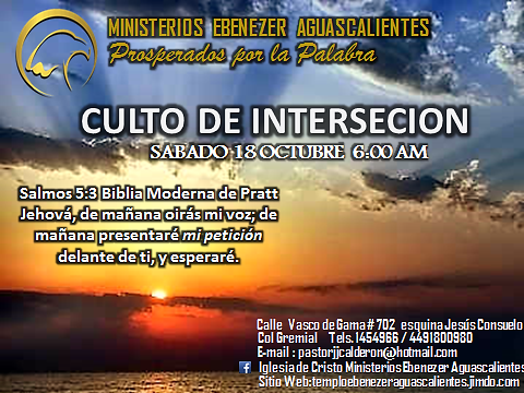REINICIANDO LA INTERCESION - Templo Ebenezer