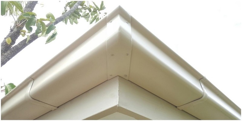 Quad gutter COLORBOND® Paperbark®