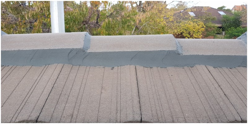 Pointing ridge capping