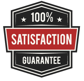 !00% Satisfaction Guarantee