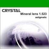 """Минеральная астигматическая линза """"Crystal"""". Индекс 1,523."""