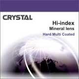 """Минеральная линза """"Crystal"""" с покрытAR. Ин.декс 1,7 Ø65"""