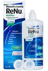 ReNu MultiPlus     Раствор для всех типов мягких контактных линз с функцией удаления белковых отложений.