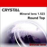 """Минеральная бифокальная линза """"Crystal""""с круглой зоной для близи. Индекс 1,523."""