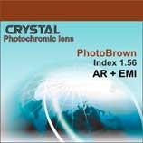Полимерная фотохромная линза «Crystal» с покрытием. Индекс 1,56