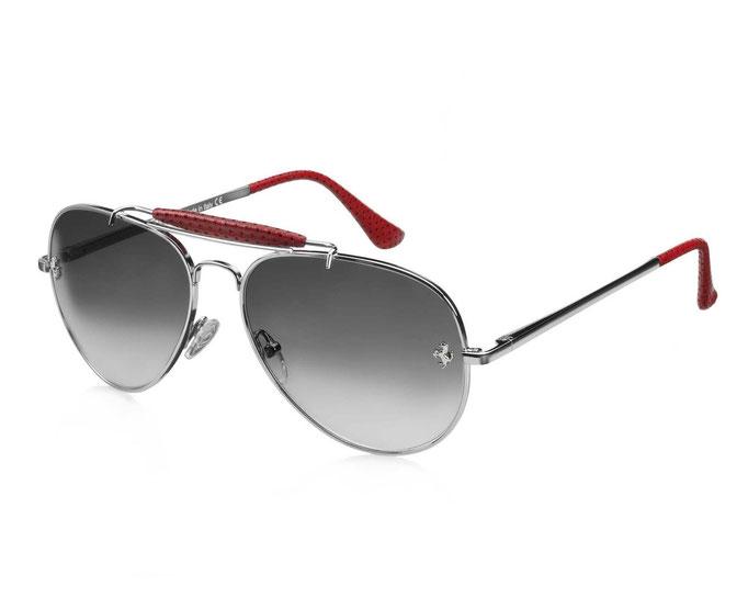 Очки от солнца Ferrari оправа изготовлена из серебра