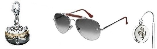 солнцезащитные очки от солнца Ferrari из  серебра