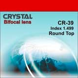 """Полимерная бифокальная линза """"Crystal"""" с сегментом (правый, левый). Индекс 1,499."""