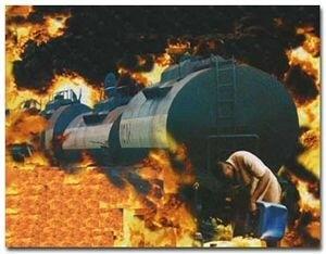 La catastrophe de NSAM a été causée par l'incendie de trains-citernes
