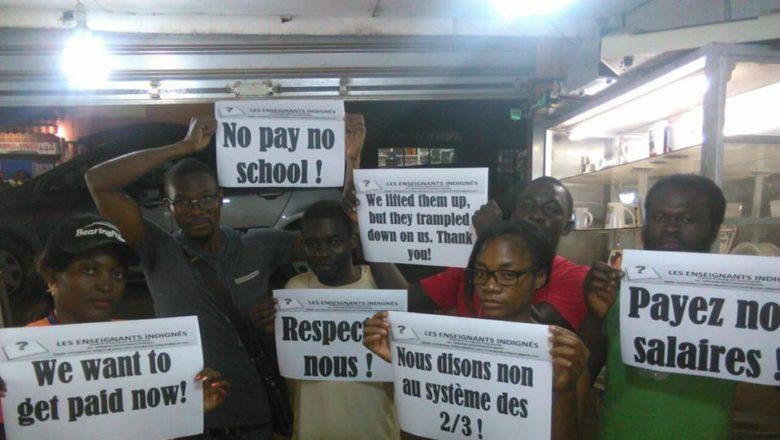 Les enseignants indignés réclament leurs salaires
