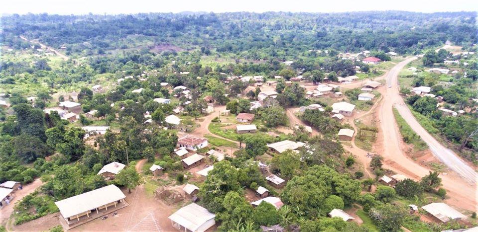 Makénéné. Une vue de la ville