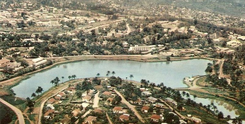 Le lac municipal dans les années 70