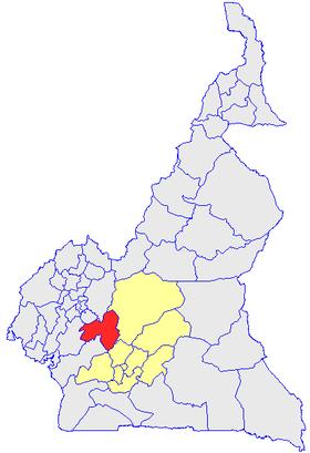 Le département du Mbam & Inoubou, en rouge