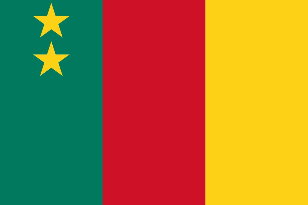 Le drapeau de la République Fédérale du Cameroun