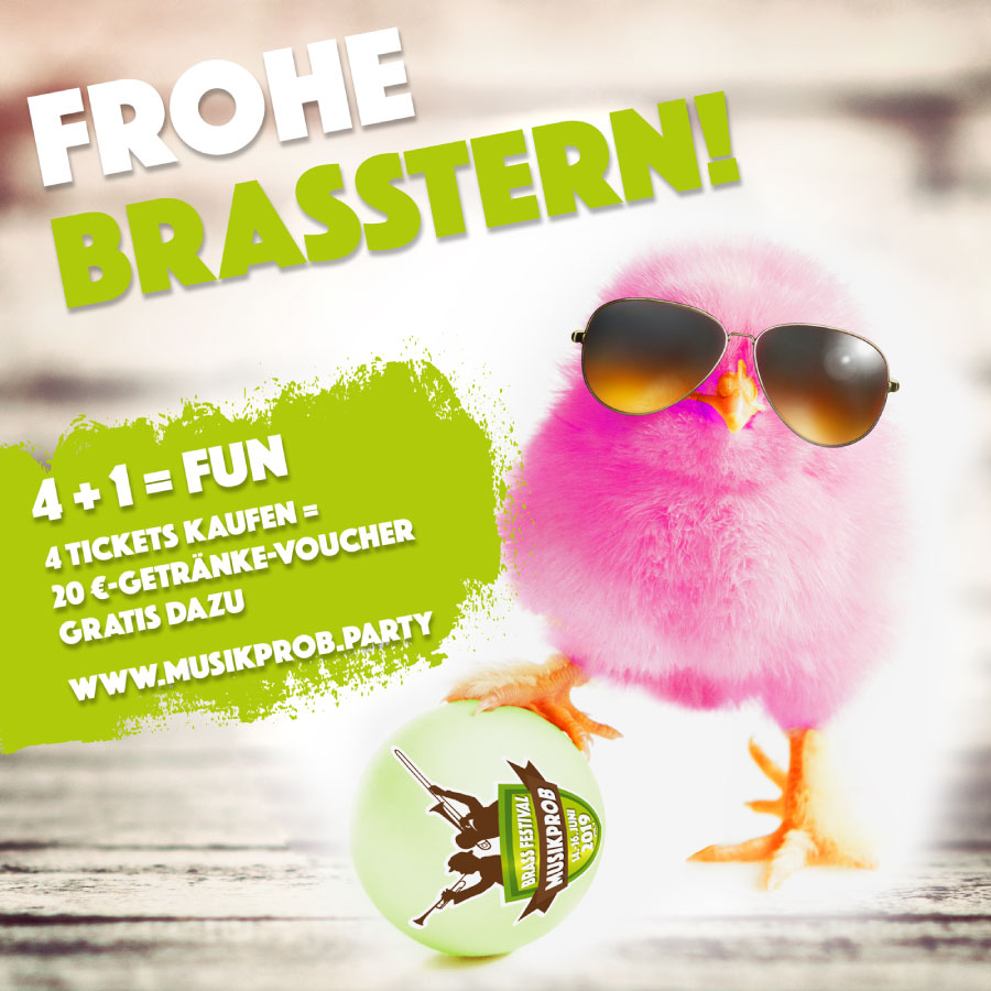 Osteraktion Musikprob Brassfestival 2019