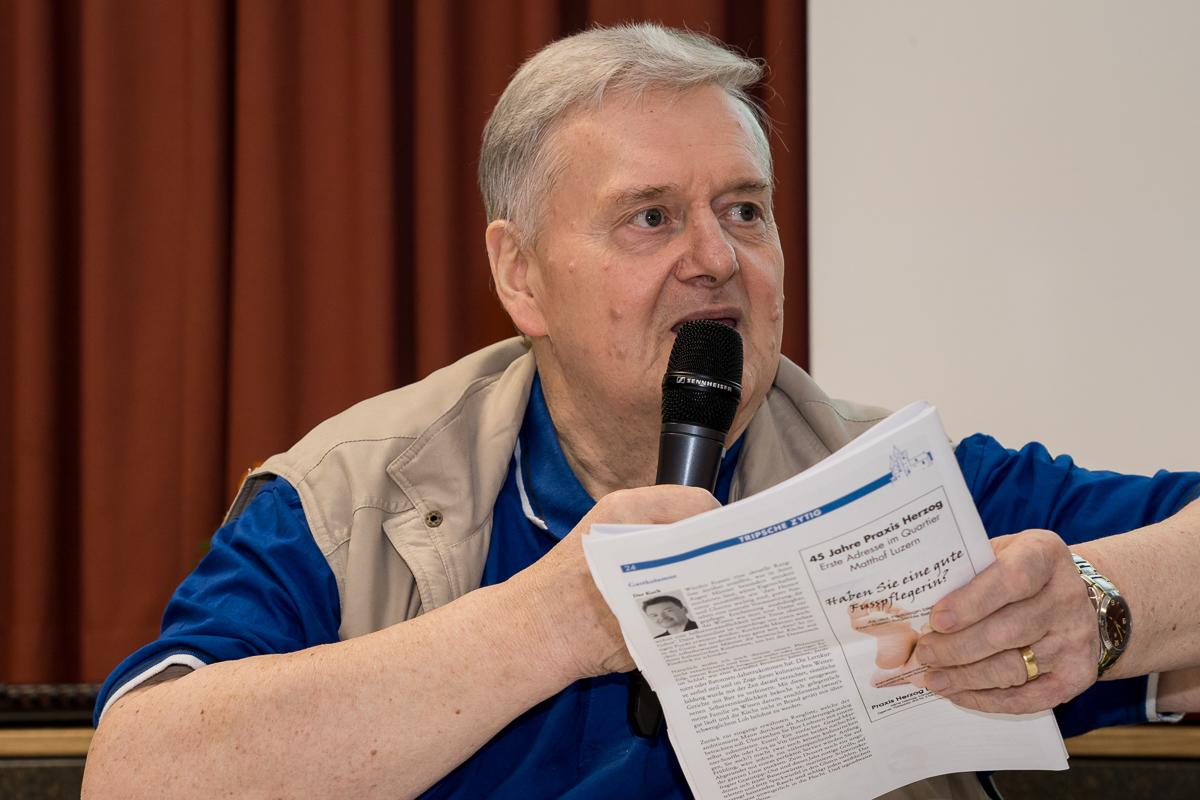 """Willy Ammann sorgt für """"witzige"""" Unterhaltung."""
