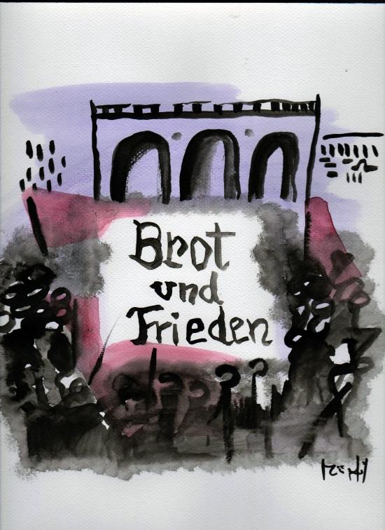 Brot und Frieden, Illustration von Miriam Gil