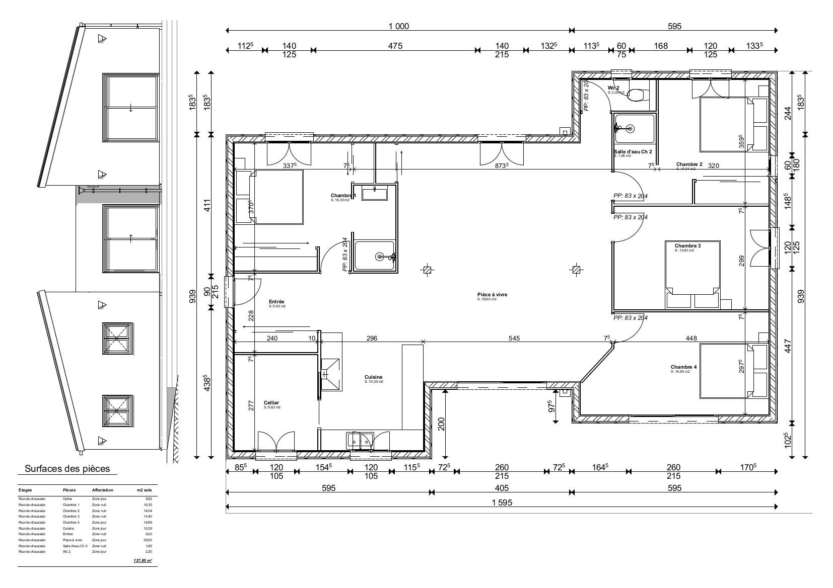 Dessinateur Plan Maison Tarif maison contemporaine - dessinateur plans permis de