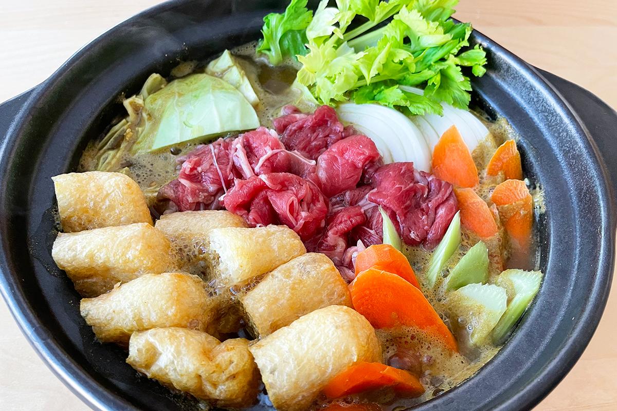 牛肉カレー鍋