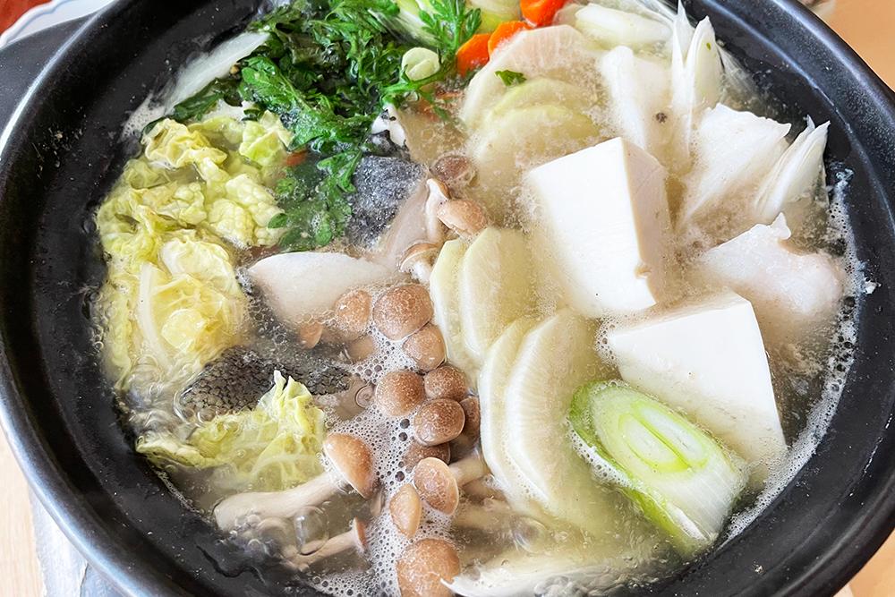 タラちり鍋と自家製ポン酢
