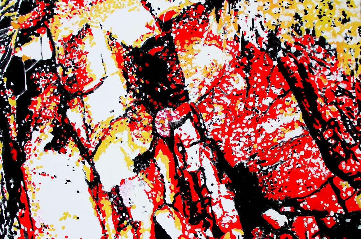 """""""Im Geflecht"""" Acryl auf Baumwolle, 80 x 120 cm"""