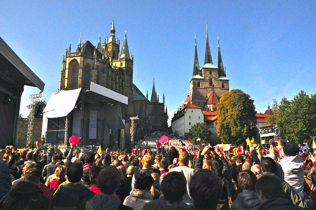 Domplatz zu Erfurt