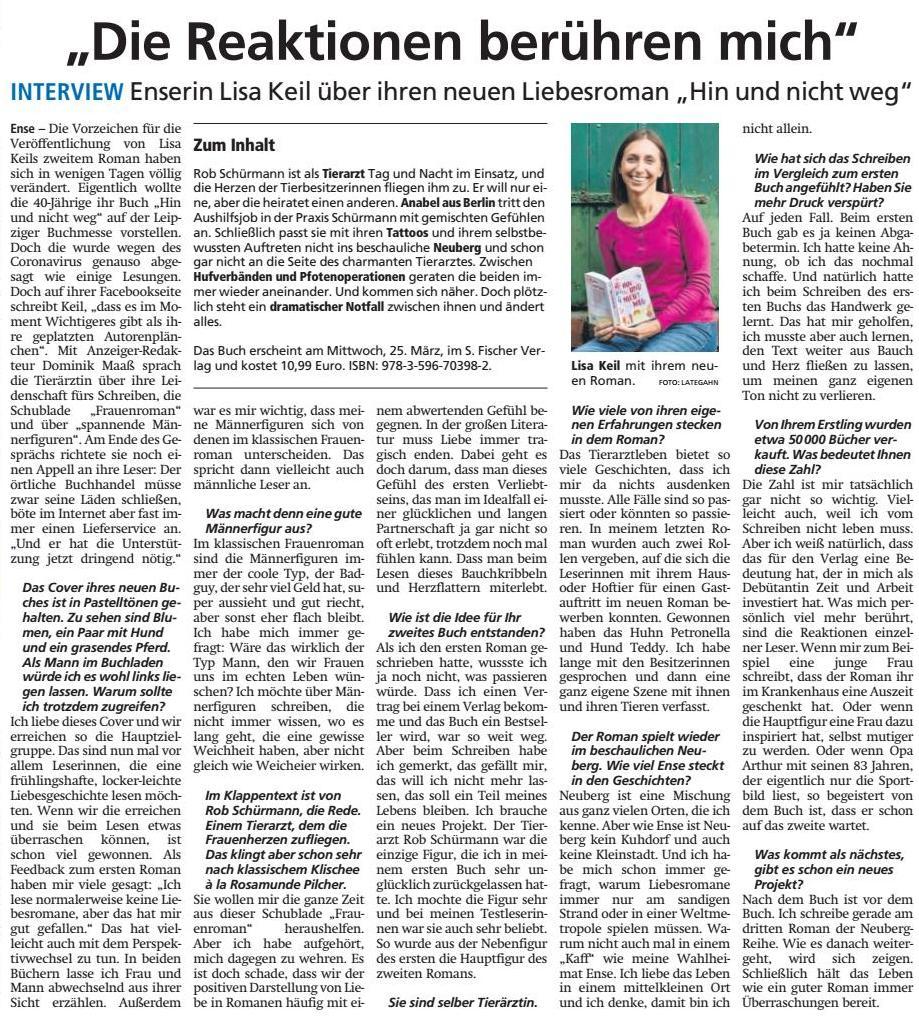 Soester Anzeiger 21.03.2020
