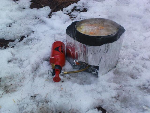 29.04.11: ...mit Nachtessen im Schnee