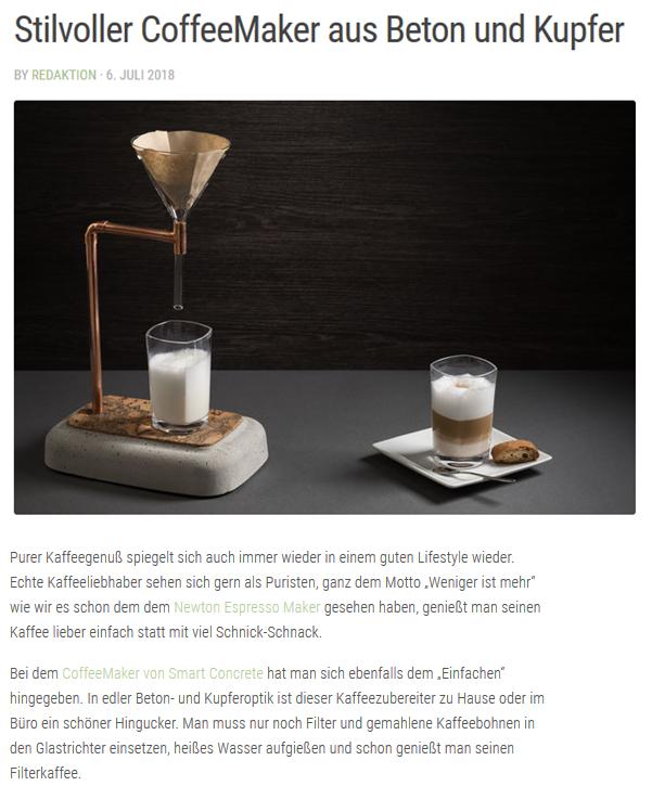 Coffee Maker aus Beton bei netzflutr.de