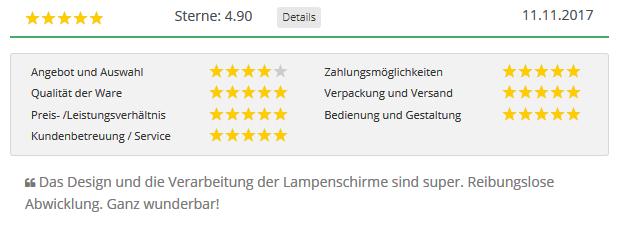 4.90 Sterne Kundenbewertung