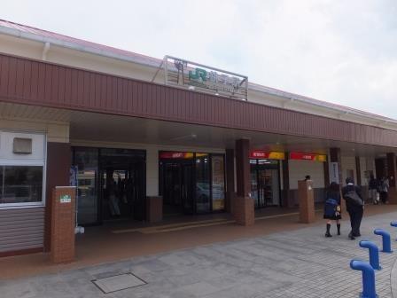 JR銚子駅 これよりレンタサイクル