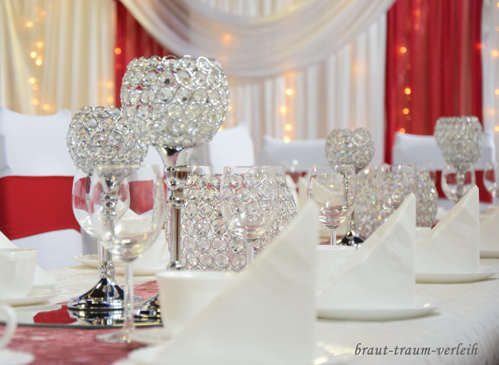 Miete Tischleuchter Silber Vermietung Stuhlhussen Mieten