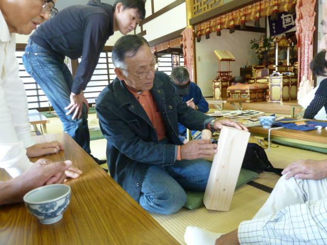 吉田 蕃弘  新たな取組み「角材から仏像を招く」