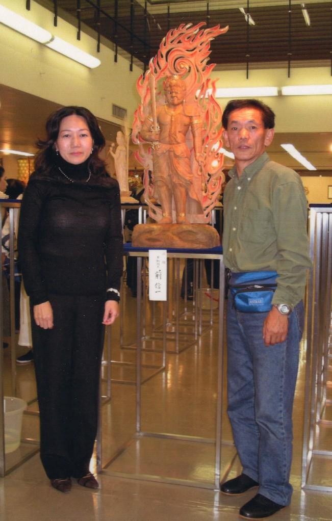 展示場にて仏所 松久佳遊 さんと・・・